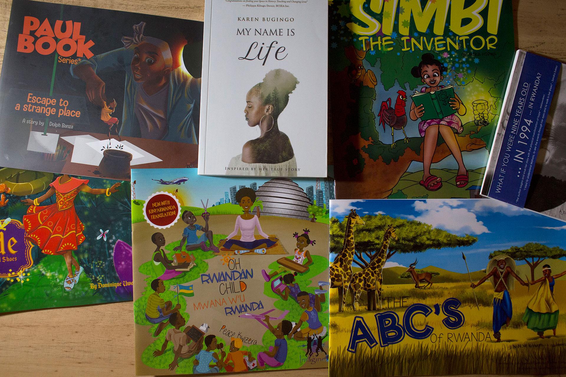 Algunos de los libros publicados por Imagine We.