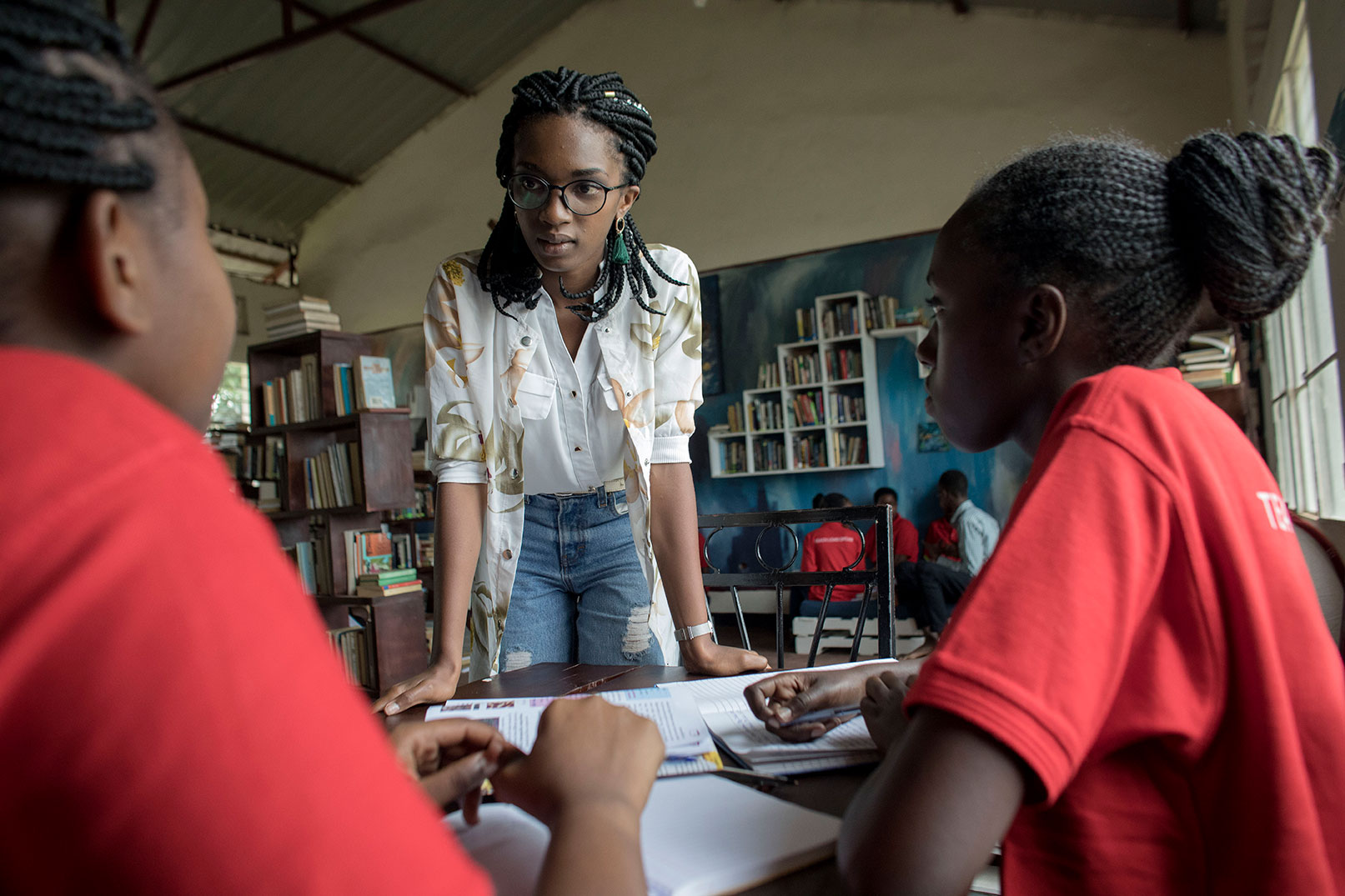 Dominique is committed to mentoring young girls.