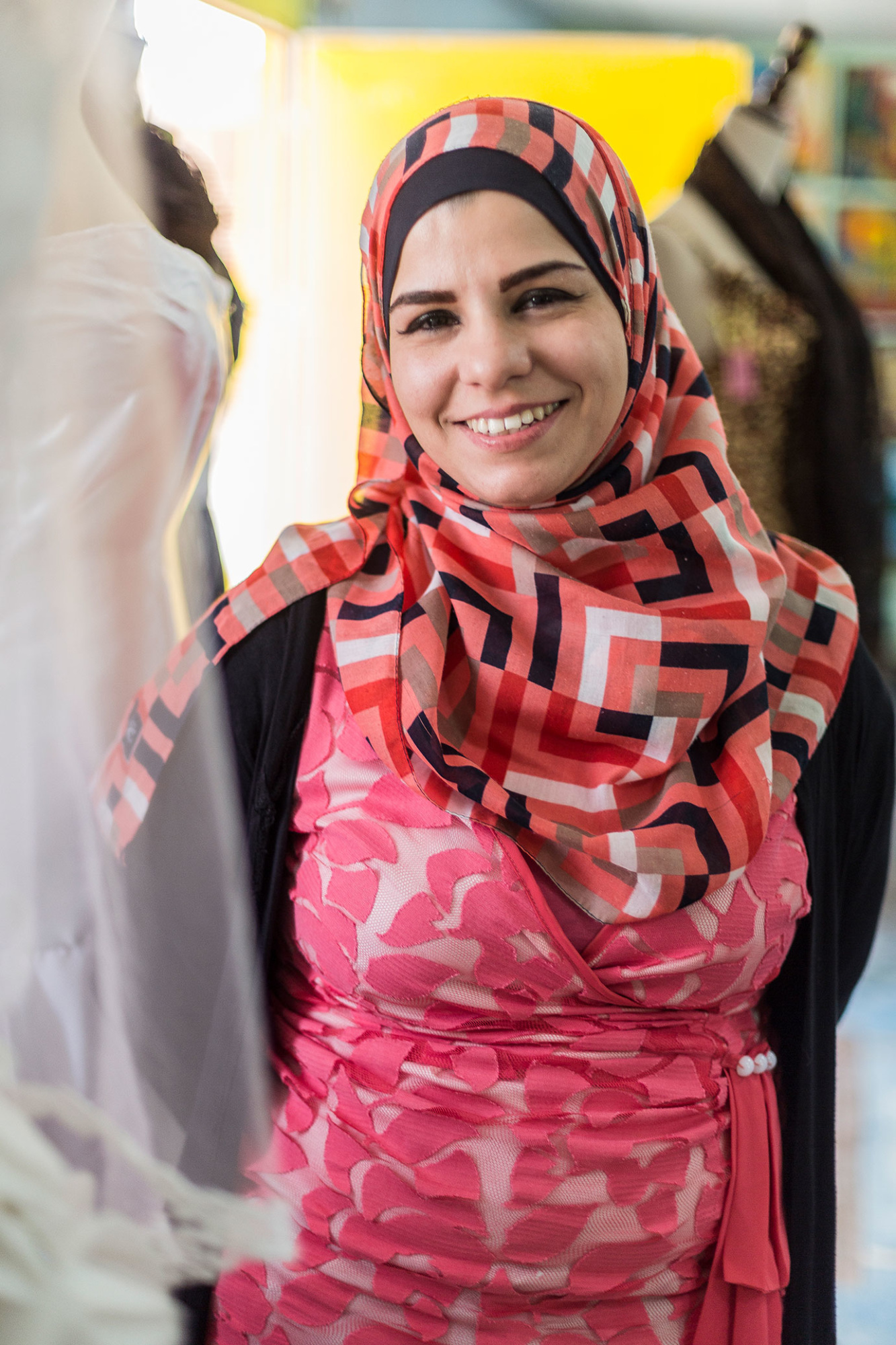 Ruba Mubarak donated her personal wedding dress to brides in Azraq Camp. Photo: Raegan Hodge/CARE