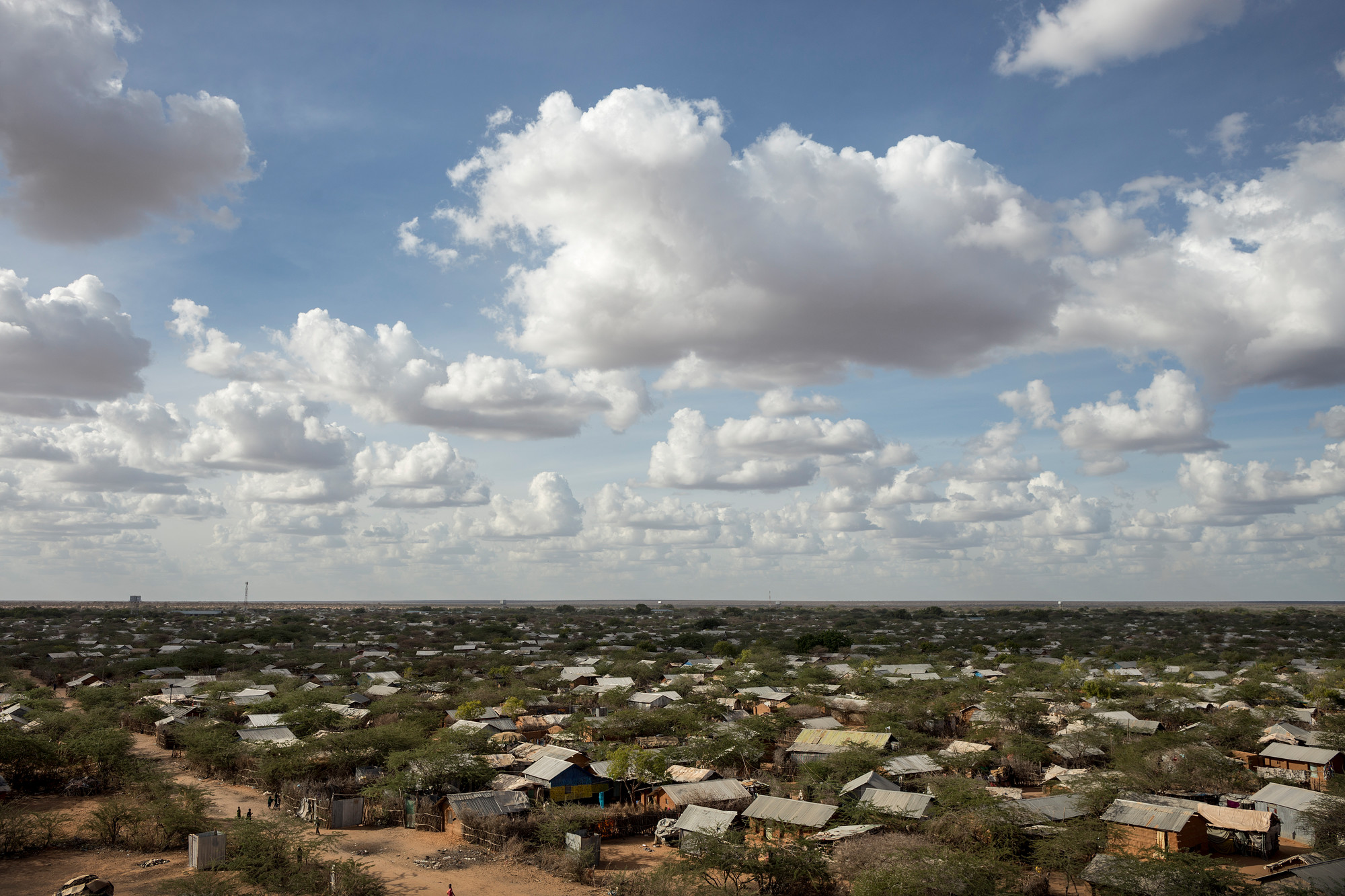 Dadaab Refugee Camp from above. Photo by CARE/Sven Torfinn