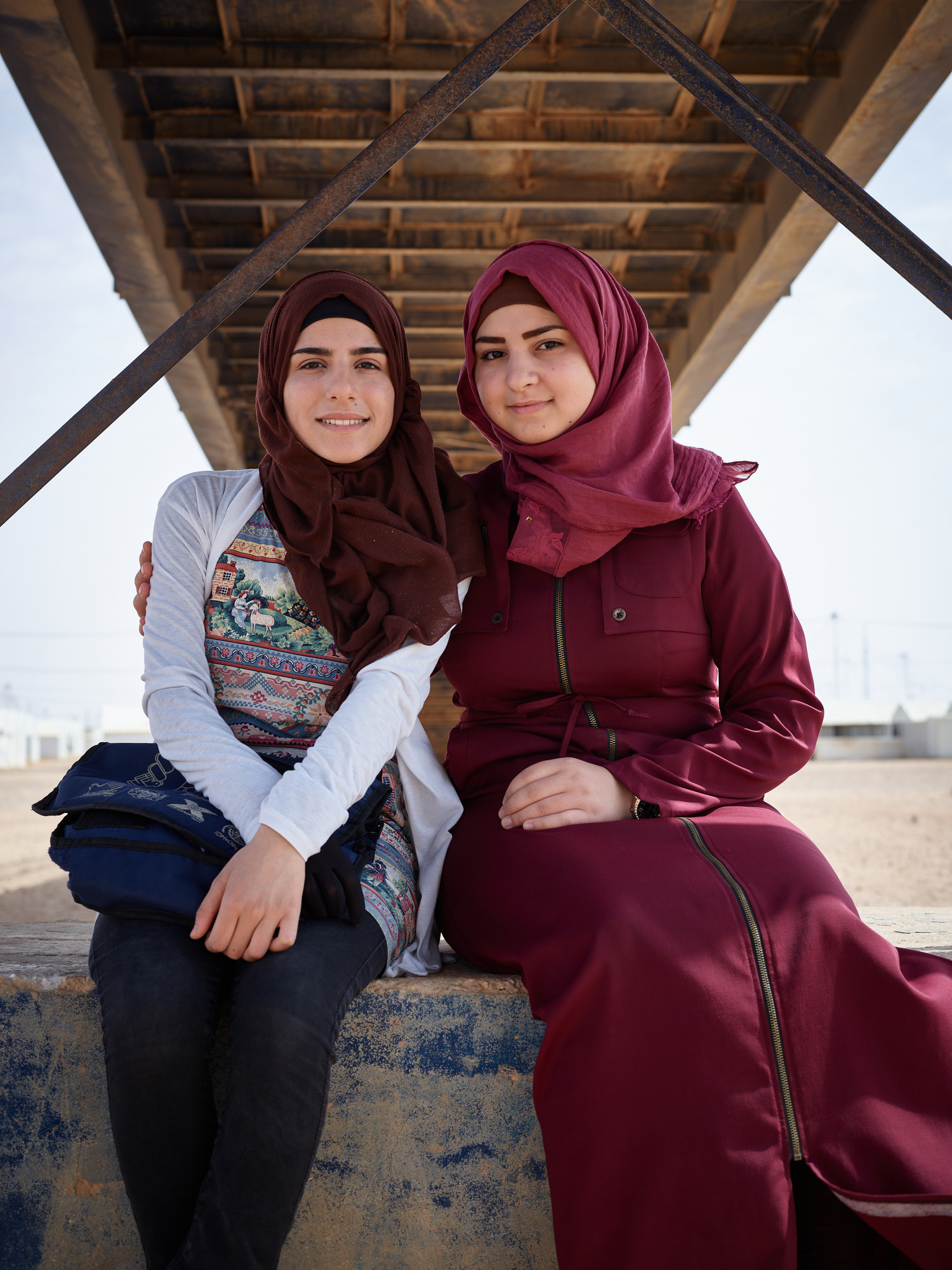 Sisters Afrah, left, and Bushra created the film