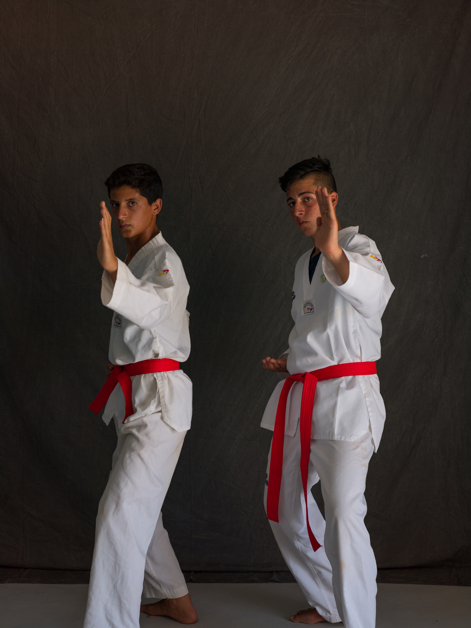 Influenced by their love of taekwondo and Bruce Lee films, Wael, left, and Abdulkareem created an action movie called
