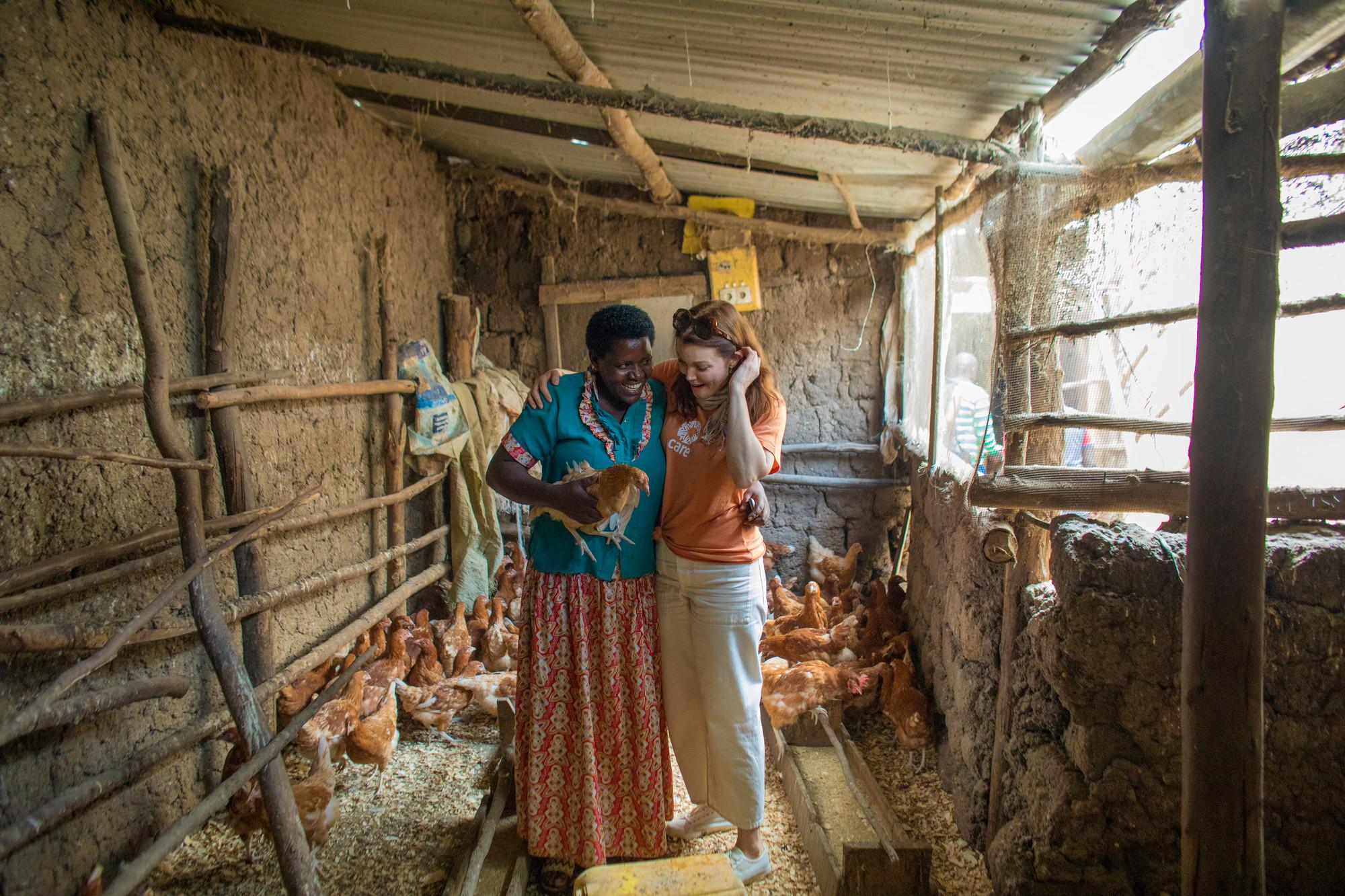Brigitte Uwababyeyi and Bellamy Young in Rwanda. Photo: Josh Estey/CARE