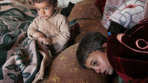 A family near Mafraq. Photo: Harry CHUN / CARE