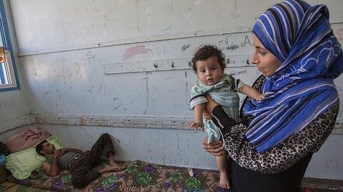 Palestinian women and children remain traumatized after conflict in Gaza. PHOTO: Alison Bakersville/CARE