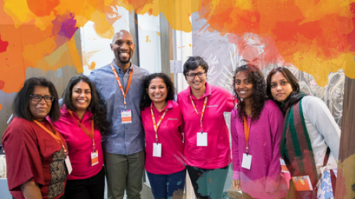 Representing CARE's most innovative projects around the world, team members gathered in Brooklyn, N.Y., to compete in CARE's Scale X Design Challenge for one of three $XNUMX grants to help take their project to scale.