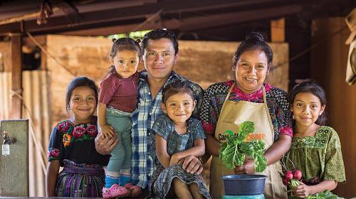 Rural indigenous farming family in Guatemala