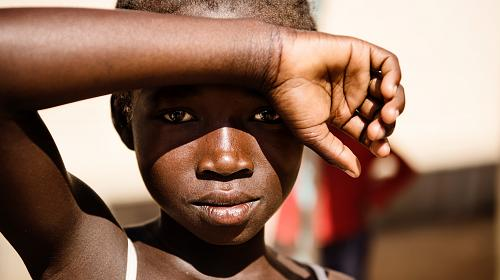 A South Sudanese refugee at Imvepi refugee camp in Uganda. Uganda is the largest refugee hosting country in Africa. Photo: Jakob Dall/CARE