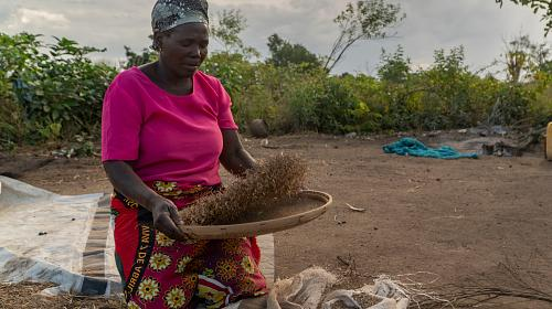 Eliza Machunga, Mozambique. Her crops were destroyed in Cyclone Idai like many farmers.