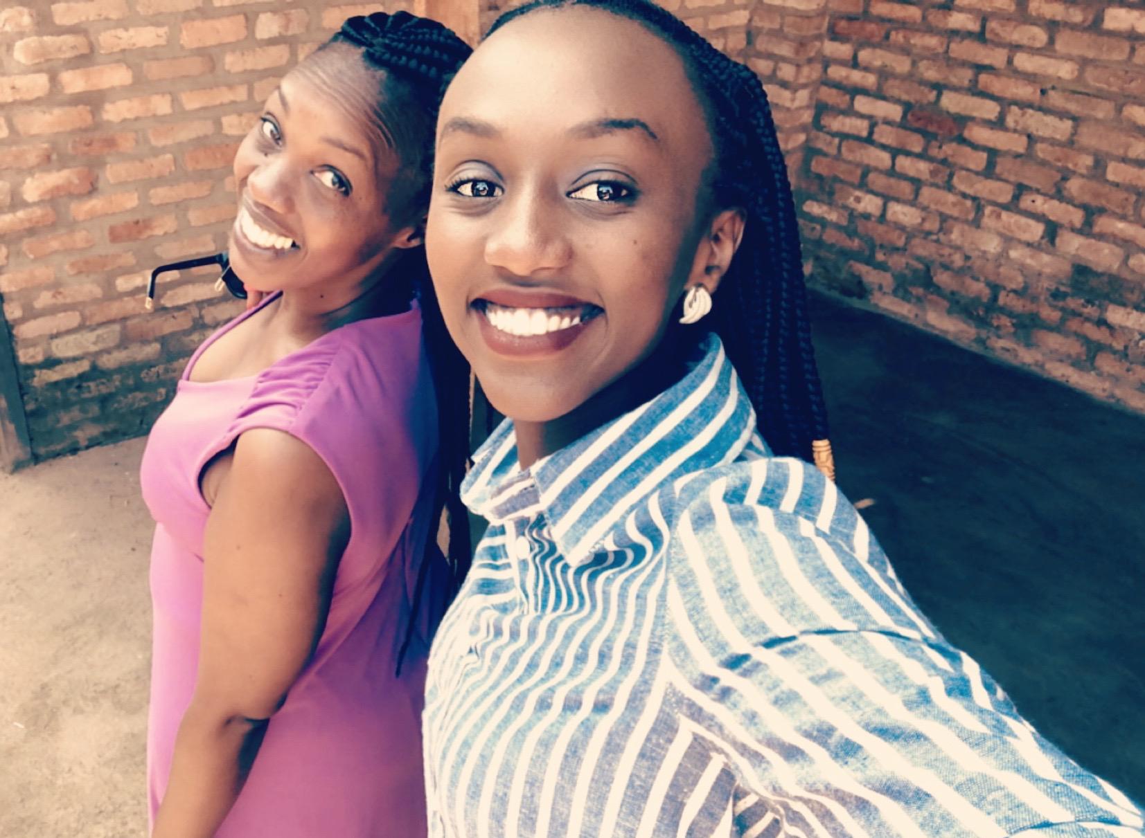 Gasana Ingabire with her mother