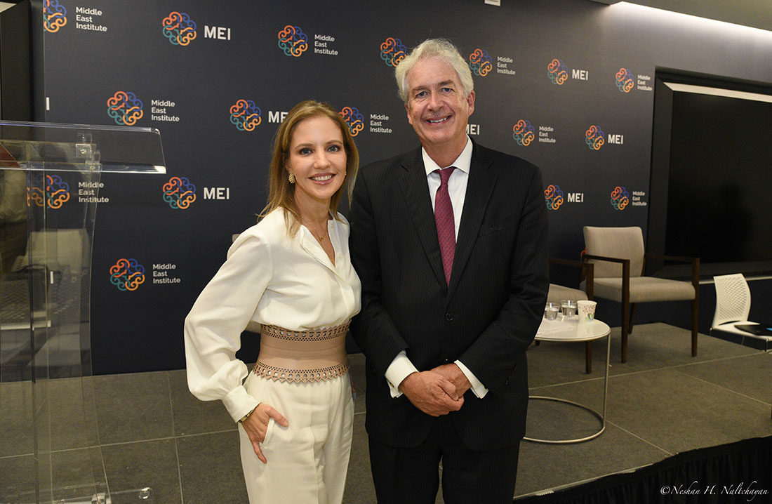 CNN senior diplomatic correspondent Michelle Kosinski and Ambassador William Burns, president of the Carnegie Endowment for International Peace.