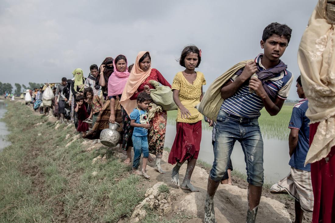 Refugees fromMyanmararrive in Bangladesh.Kathleen Prior/CARE Australia