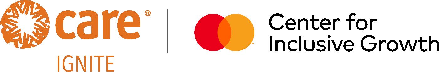 CARE Ignite x Mastercard Center for Inclusive Growth logo lockup