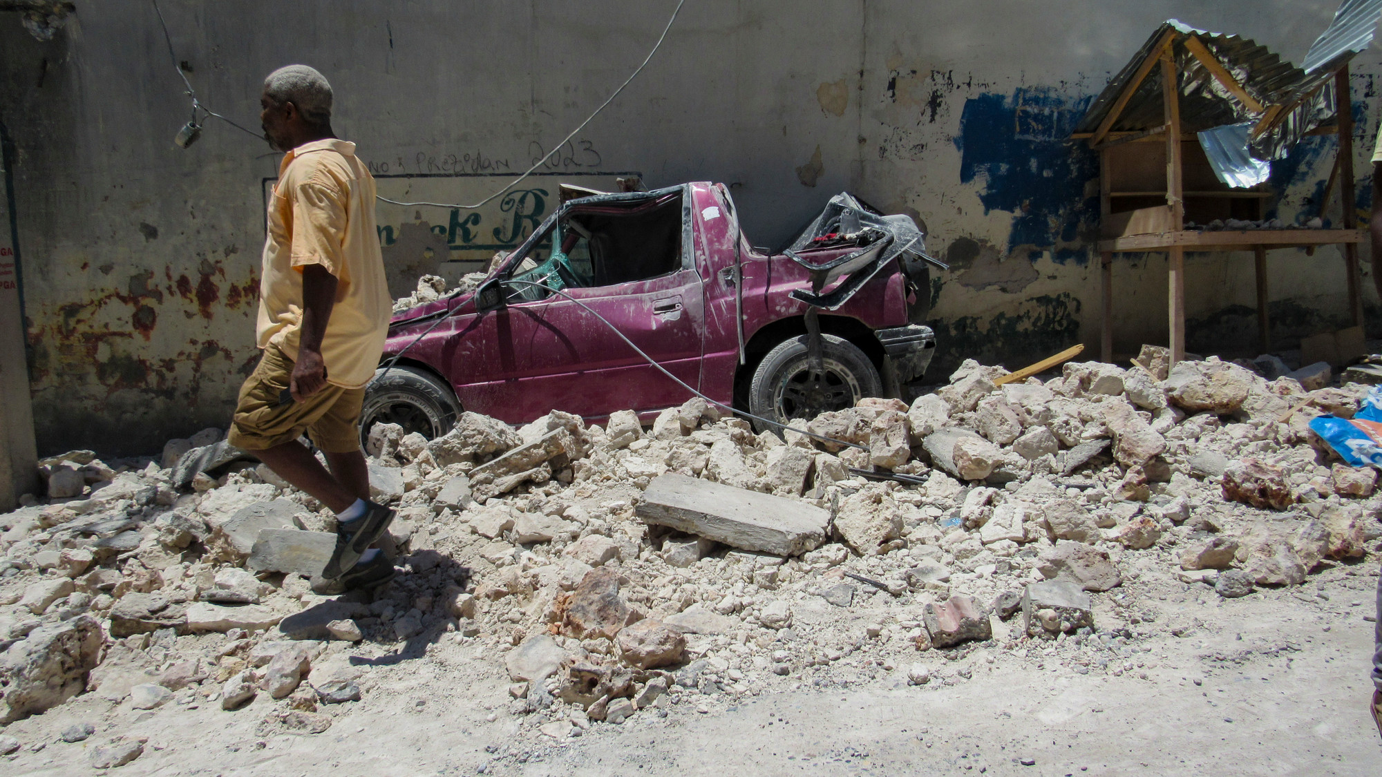 Footage of Port-au-Prince, Haiti following the 7.2 magnitude earthquake that struck on August 14, 2021.