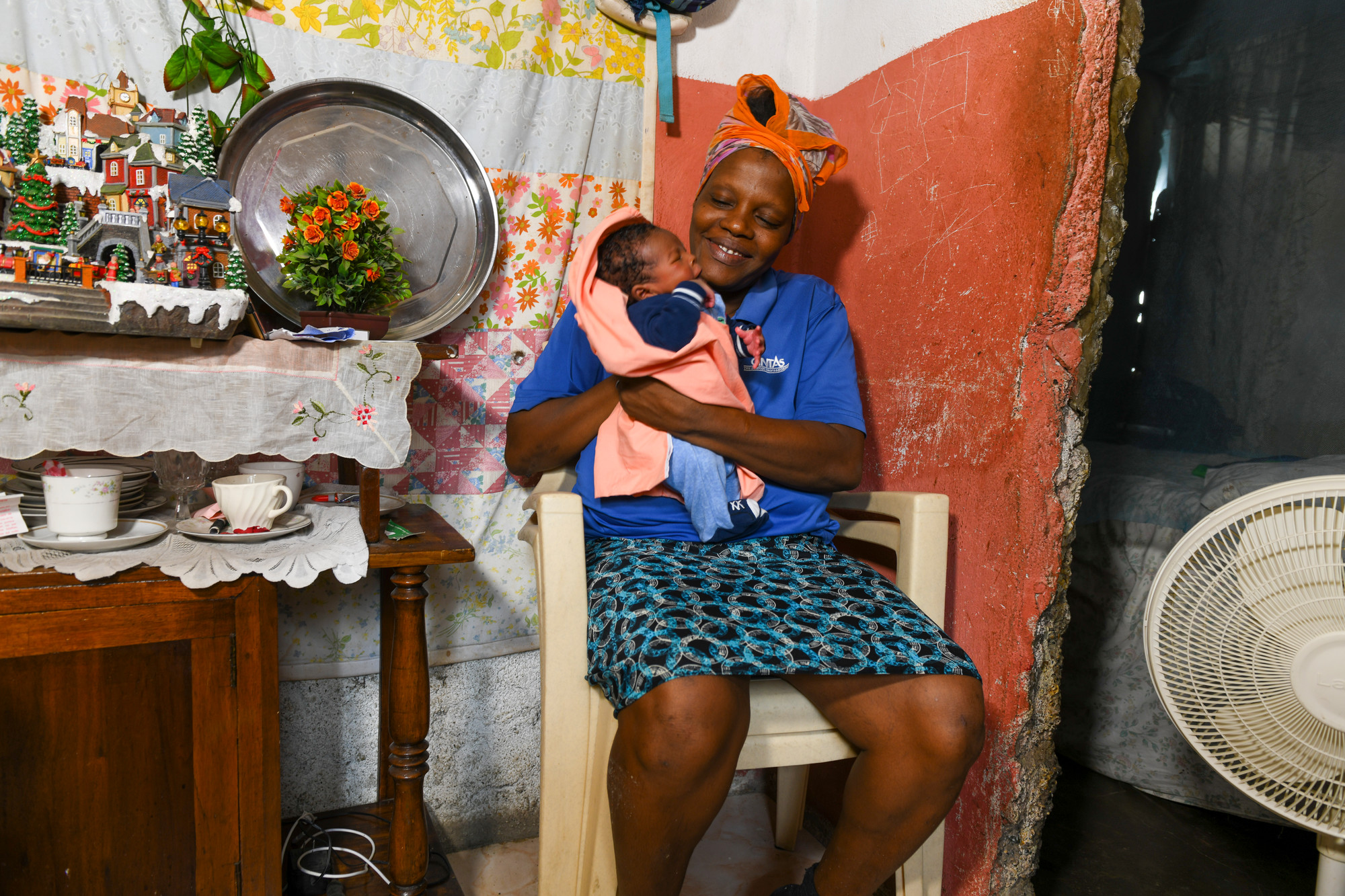 Natacha Louis and her child photographed in Haiti after an earthquake wrecked havoc in the Grand-Anse region in Southn Haiti earlier in August.